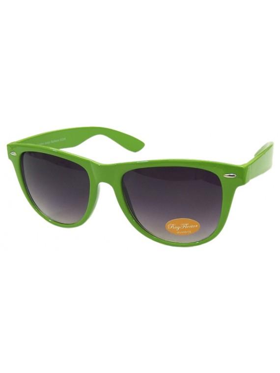 Classic Wayfarers Sunglasses, Olive Green - Bigger Size