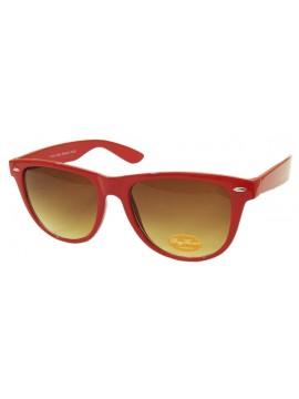 Classic Wayfarer Style Sunglasses,  Red - Bigger Size