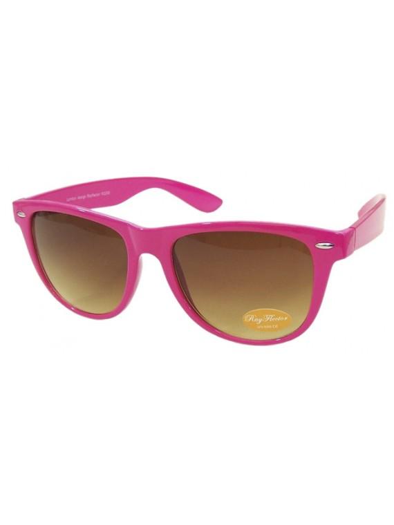 Classic Wayfarer Sunglasses, Rose Pink - Bigger Size