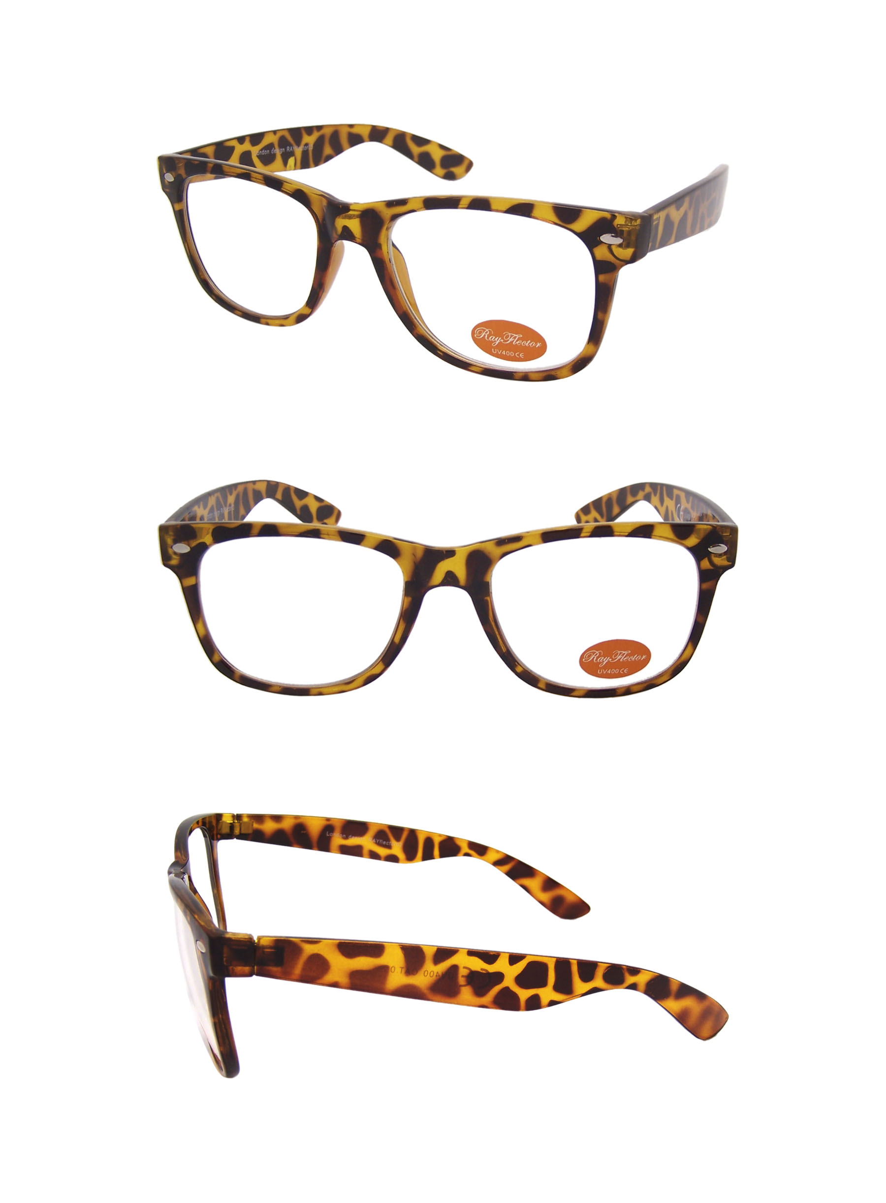 372aada7dca Classic Modern Clear Lens Wayfarer Style Sunglasses